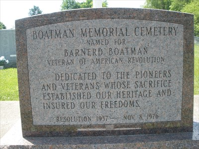Pioneer Boatman Memorial Cemetery