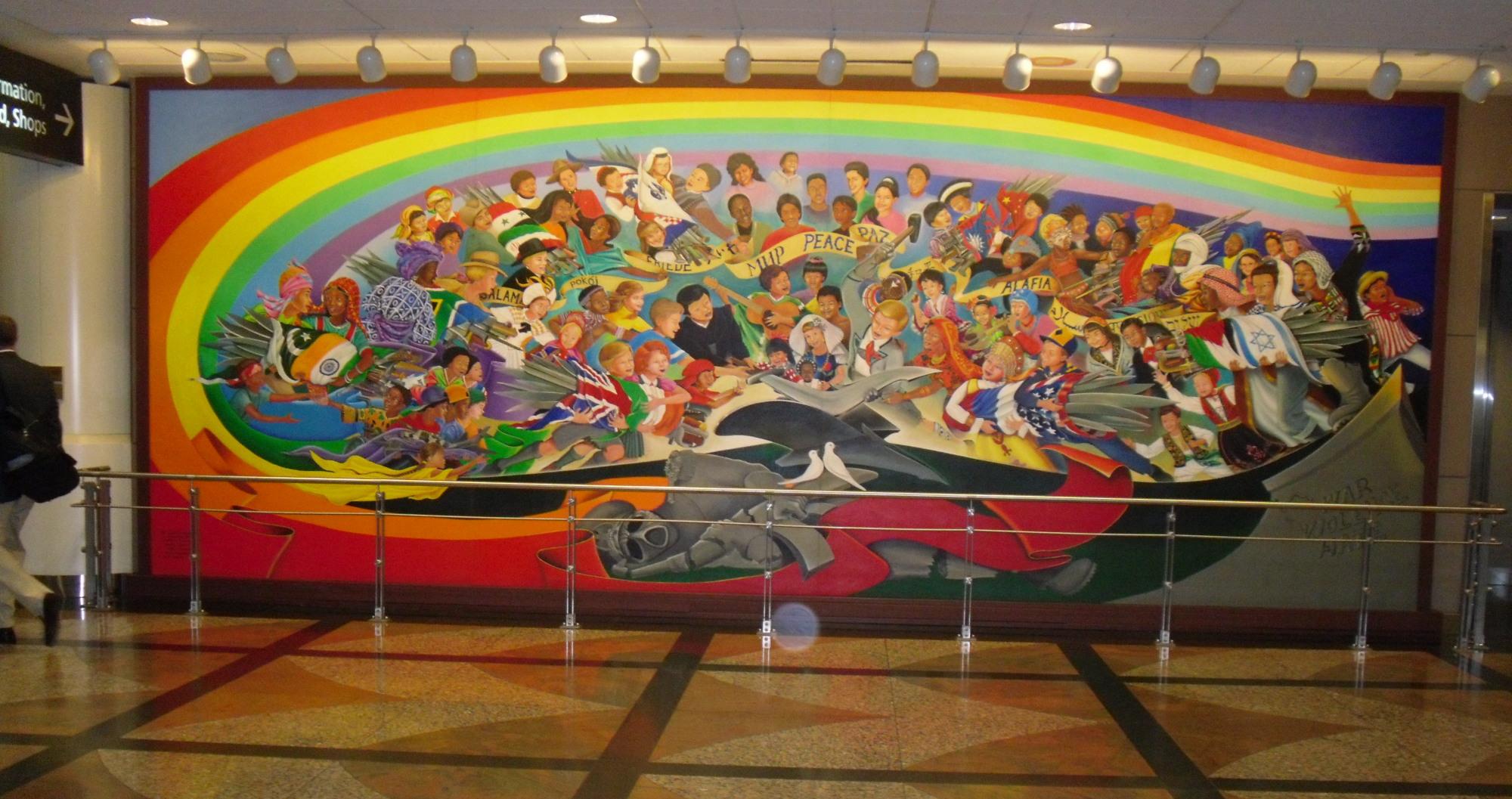 Denver Airport Wall Murals Denver Havalimanındaki Illuminati Sembolleri En Iyi